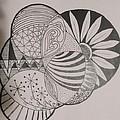 Circles Of Zen Tangle by Sharon Duguay