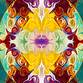Circling The Unknown Abstract Healing Artwork By Omaste Witkowsk by Omaste Witkowski