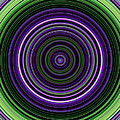 Circular Concentric Stripes In Multiple Colors by Nenad Cerovic