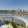 Circular Walkway On Portland Eastbank Esplanade by Jit Lim