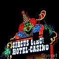 Circus Circus Sign Vegas by John Malone