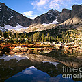 Cirque Of The Towers In Lonesome Lake 2 by Tracy Knauer