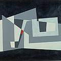 Citadel, Version 3, 1982 Oil On Hardboard by George Dannatt