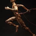 Olympic Runner Citius Altius Fortius  by Adam Long