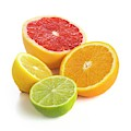 Citrus Fruit Halves by Science Photo Library