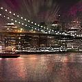 City-art Brooklyn Bridge by Melanie Viola