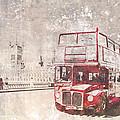 City-art London Red Buses II by Melanie Viola