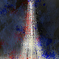 City-art Paris Eiffel Tower In National Colours by Melanie Viola