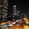 City At Night - Los Angeles by David Buchan