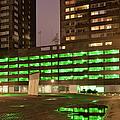 City At Night Urban Abstract by Artur Bogacki