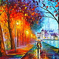 City By The Lake by Leonid Afremov