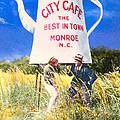 City Cafe - Nostalgic Monroe North Carolina by Mark E Tisdale
