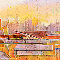 City Commerce Panoramic by Jean Moore