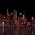 Chicago City Dusk by Louis Ferreira
