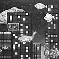 City Fish Edit 3 by Leah Saulnier The Painting Maniac