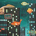 City Fish Edit 5 by Leah Saulnier The Painting Maniac