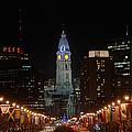City Hall At Night by Jennifer Ancker