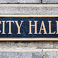 City Hall Municipal Sign In Chicago by Paul Velgos