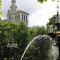 City Hall Park And Fountain by Christiane Schulze Art And Photography