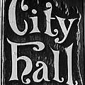 City Hall Sign by Carlos Cano