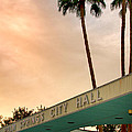 City Hall Sky Palm Springs City Hall by William Dey