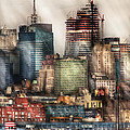 City - Hoboken Nj - New York Skyscrapers by Mike Savad
