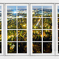 City Lights White Window Frame View by James BO Insogna