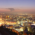 City Lit Up At Night, Esslingen by Panoramic Images