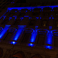 City Night Walks - Blue Highlights Facade by Georgia Mizuleva