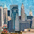 City - Ny - A Touch Of The City by Mike Savad