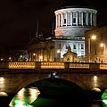 City Of Dublin At Night In Ireland by Artur Bogacki