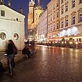 City Of Krakow By Night In Poland by Artur Bogacki