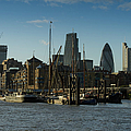 City Of London River Barges Wapping by Gary Eason