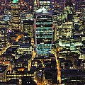 City Of London Skyline At Night by Jasna Buncic