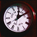 City Of Martinez California Town Clock - 5d20862 - Painterly by Wingsdomain Art and Photography
