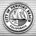 City Of Newport Beach Sign Black And White Picture by Paul Velgos
