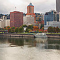 City Of Portland Oregon In The Fall Panorama by Jit Lim