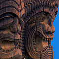 City Of Refuge Tiki Gods by Lori Seaman
