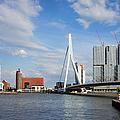 City Of Rotterdam Cityscape In Netherlands by Artur Bogacki