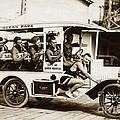 City Of Santa Monica Life Saveing Service Ocean Park Circa 1917 by California Views Archives Mr Pat Hathaway Archives