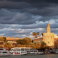City Of Seville At Sunset by Artur Bogacki