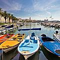 City Of Split Colorful Harbor View by Brch Photography
