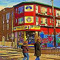 City Paint Benjamin Moore Rue Rachel And Hotel And De Ville Montreals Oldest Paint Store  C Spandau  by Carole Spandau