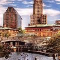 City - Providence Ri - The Skyline by Mike Savad