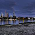 City Skyline At Night by Darren Burton