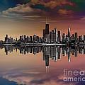 City Skyline Dusk by Peter Awax