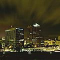 City Skyline With Milwaukee Art Museum by Panoramic Images
