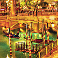 City - Vegas - Venetian - The Venetian At Night by Mike Savad