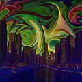 City World by Artist Nandika  Dutt