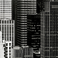Cityscape In Black And White by Diane Diederich